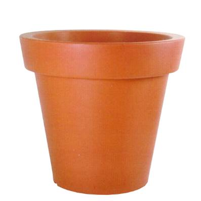 Pot rond rotomoulé terracotta