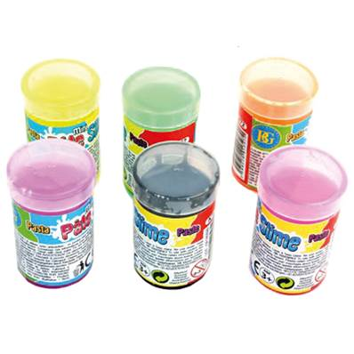 24 PATES SLIME BARIL FLUO 30GRS